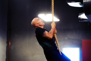 Phil climbing the rope!