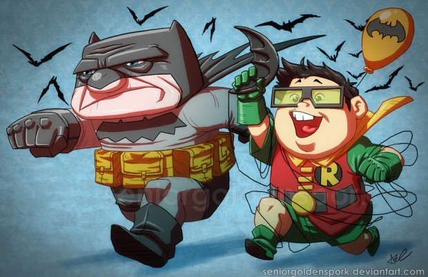From our staff. Who would be Batman? Who would be Robin?